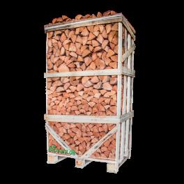 Ovntørret Birk i palletårn 25 Cm. min. 1,8 m3